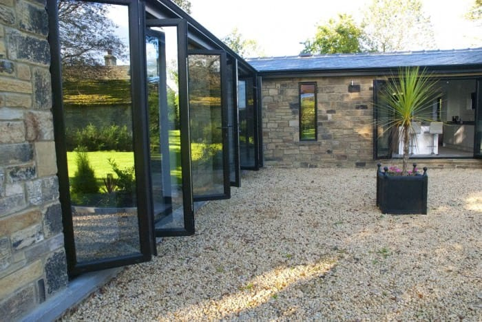Black Grain Bi-Fold Doors