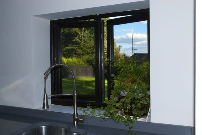 black grain triple glazed casement windows