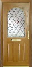Composite Front Door With Window