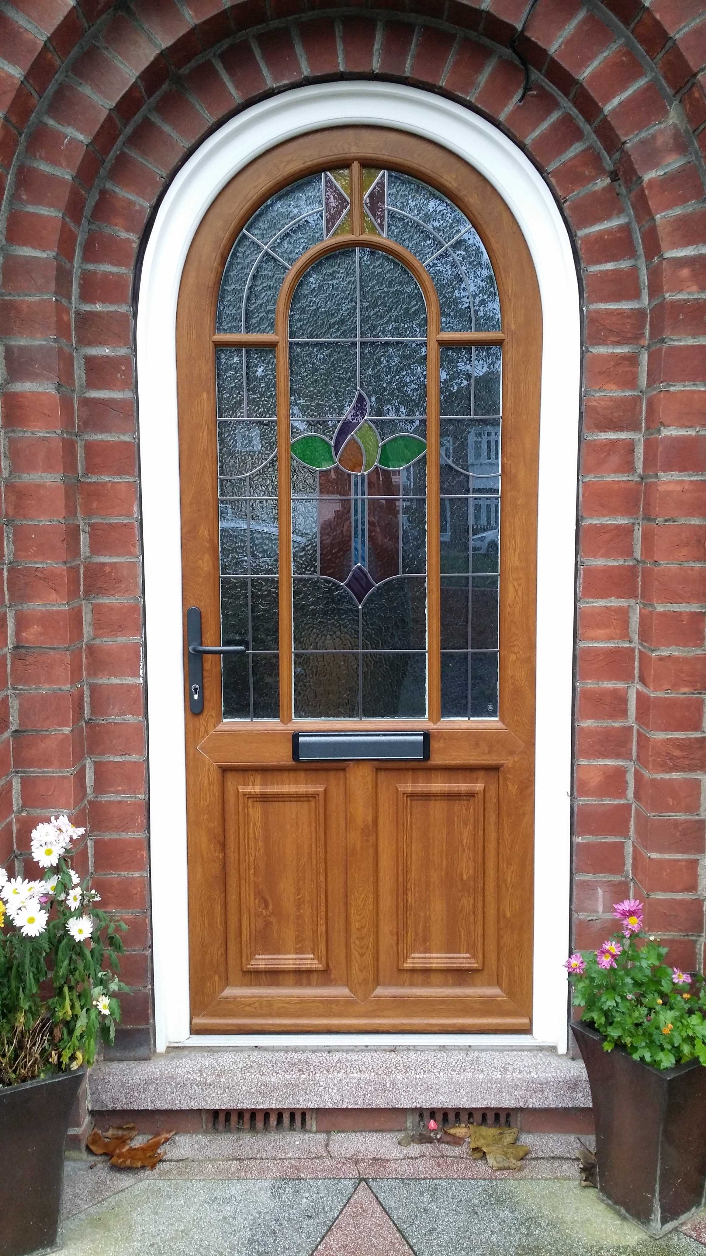 Arched French Doors Patio