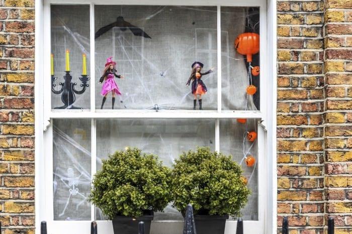 cobwebs in the window