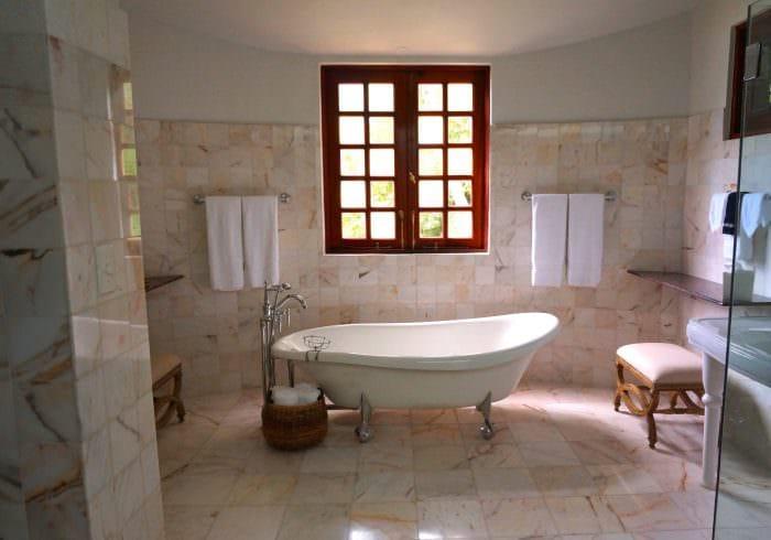 Aspirational bathroom window