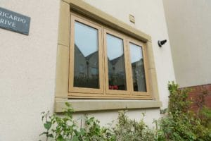 Woodgrain flush windows Bradford