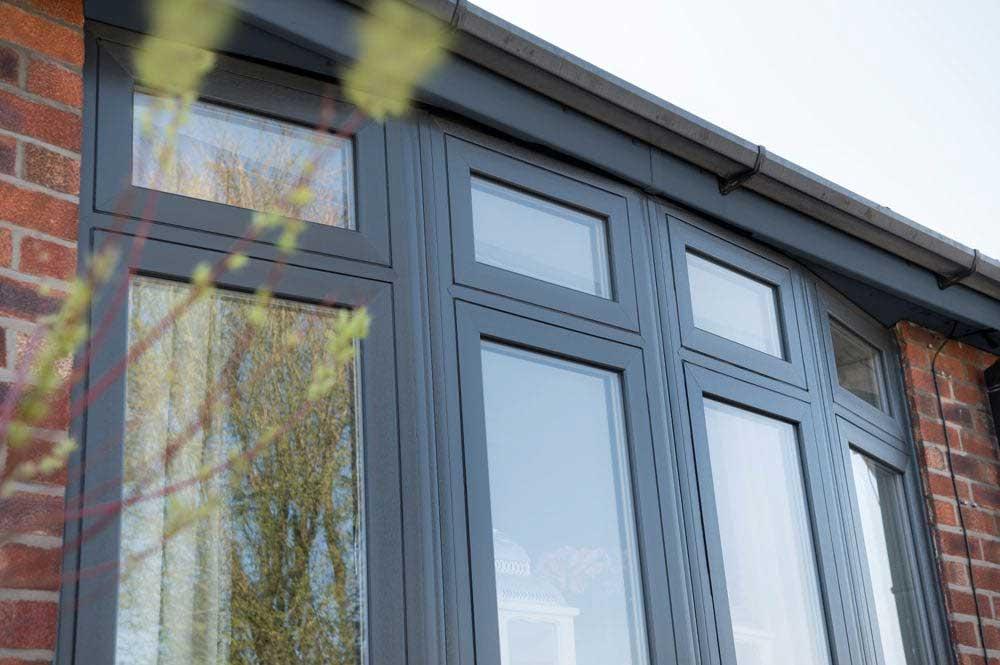 Flush Sash Casement Windows in Grey Yorkshire