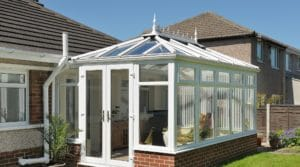 Edwardian Conservatory with Cresting Finials