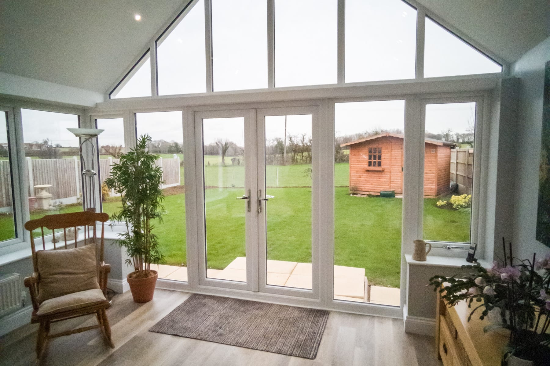 Pitched Gable Roof Conservatory Internal Yorkshire