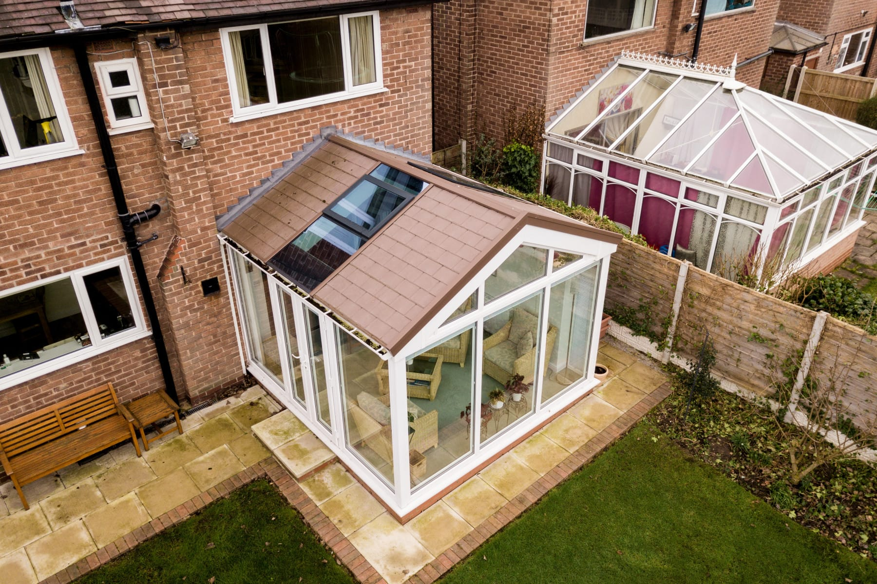 Modern Gable Conservatory Installation Yorkshire