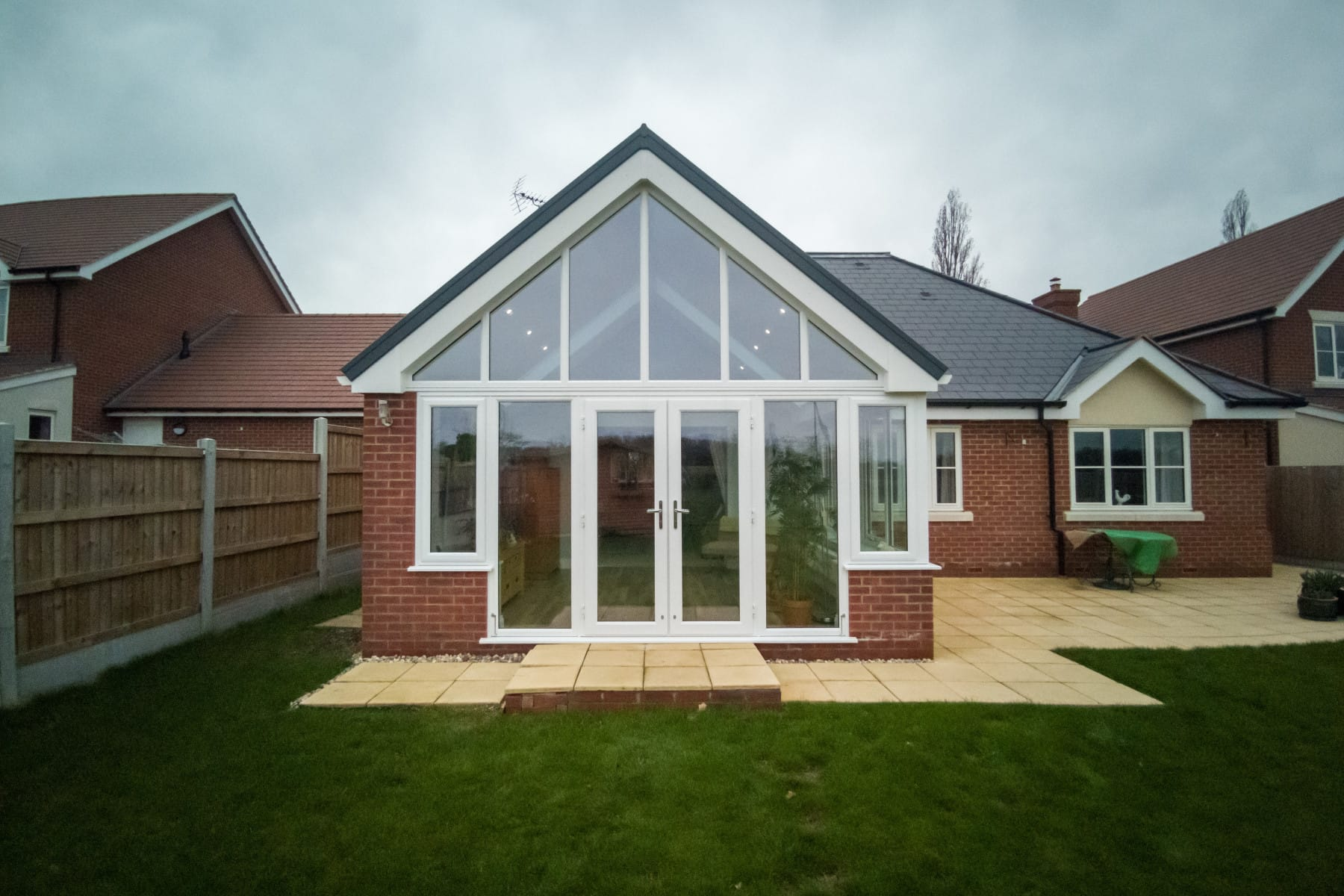 Pitched Pointed Gable Conservatory Apex