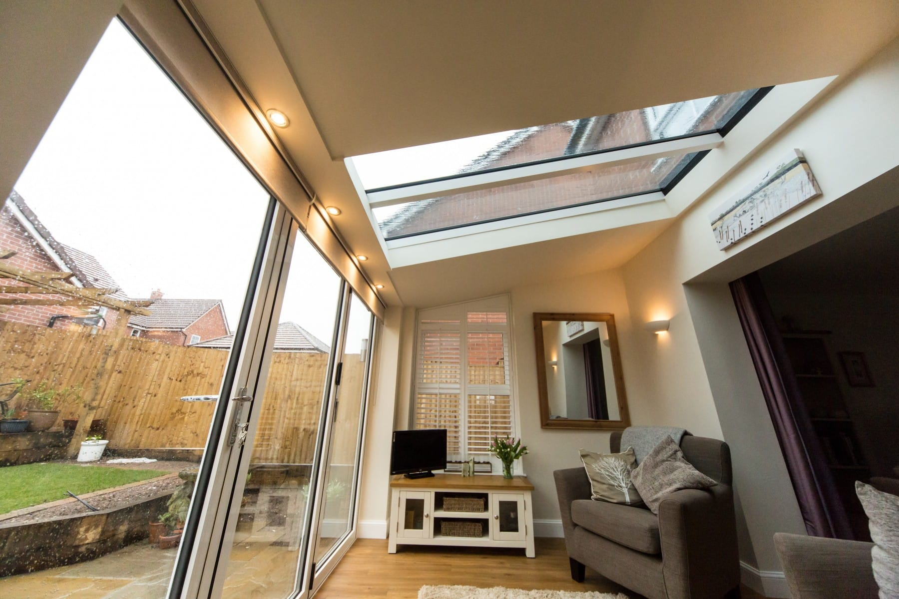 Internal View of Lean To Conservatory Roof Yorkshire