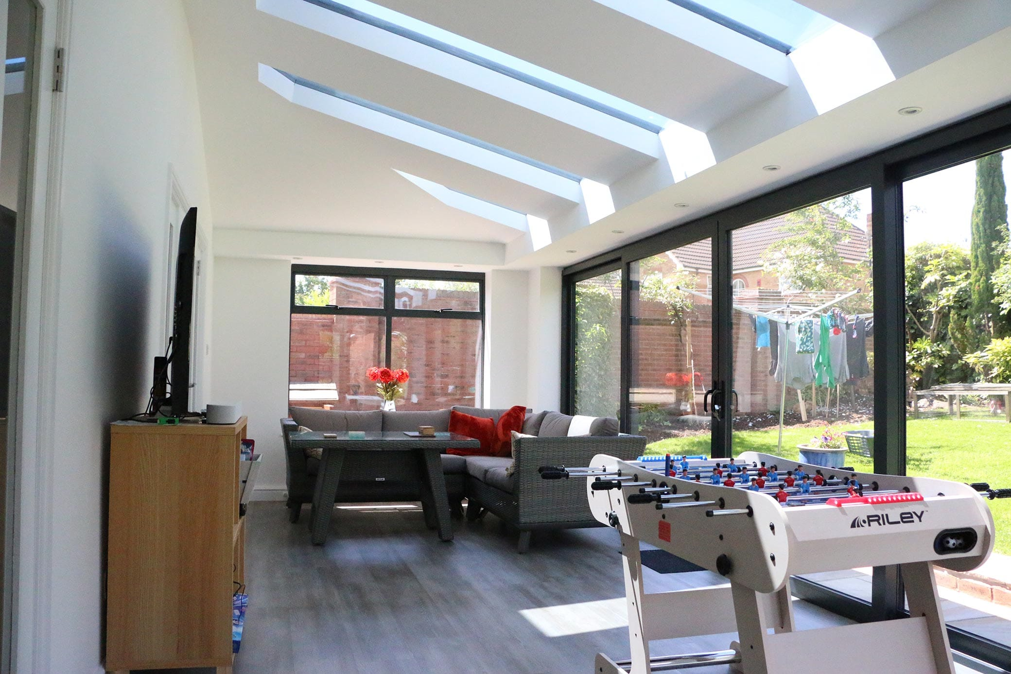Solid Replacement Conservatory Roof with Glazed Panels