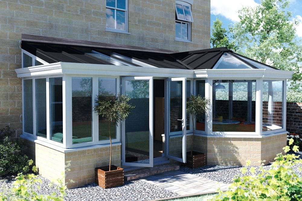 Coral Pshaped glass Conservatory Yorkshire