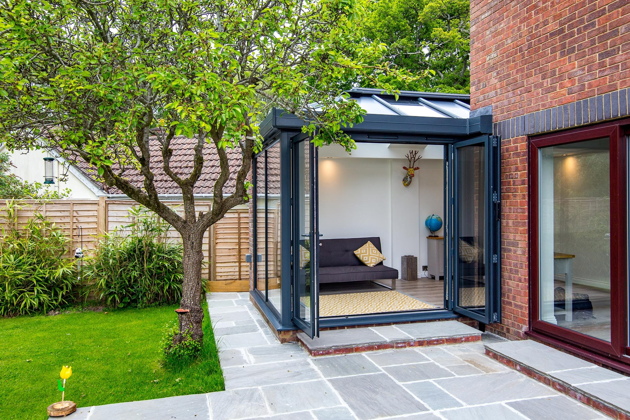 Modern side solid roof extension Bradford