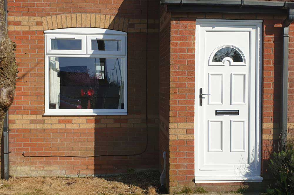 white upvc front door yorkshire