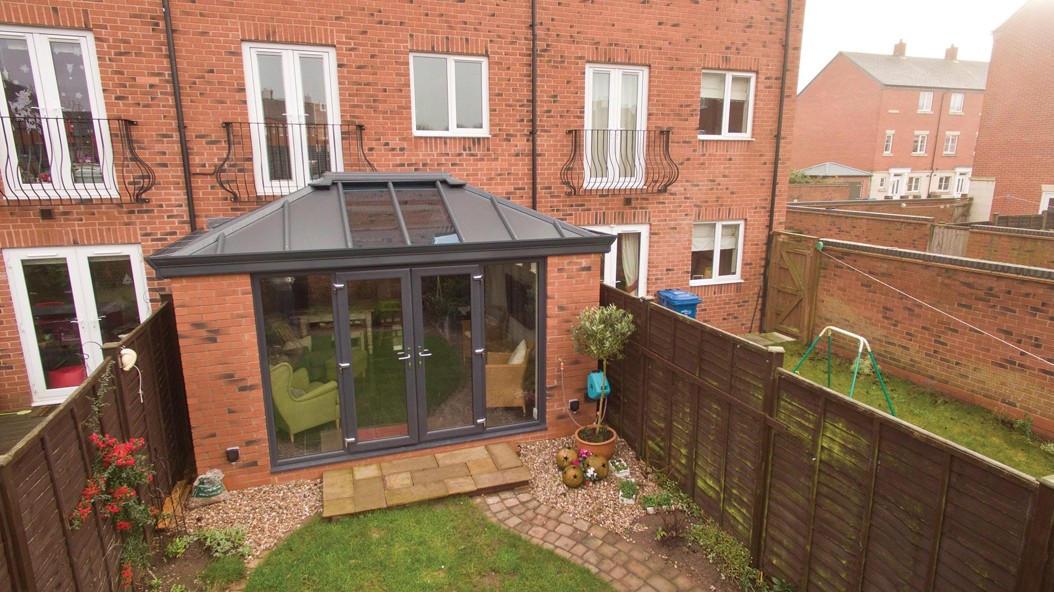 Glazed Extension with Solid Livinroof Yorkshire